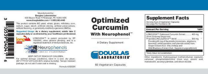 Douglas Laboratories Optimized Curcumin With Neurophenol