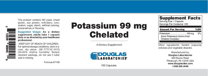 Douglas Laboratories Potassium Chelated