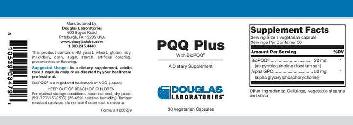 Douglas Laboratories PQQ Plus