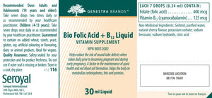 Genestra Brands Bio B12 + Folic Acid