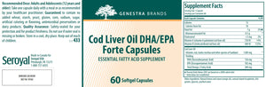 Genestra Brands Cod Liver Oil DHA/EPA Forte Capsules