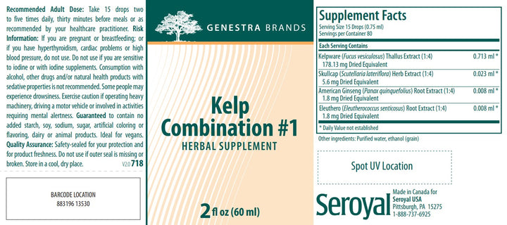 Genestra Brands Kelp Combination #1