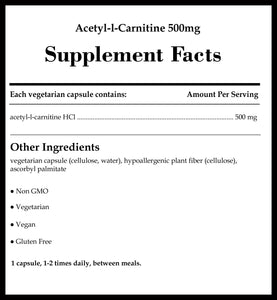 Pure Encapsulations Acetyl-l-Carnitine 500mg