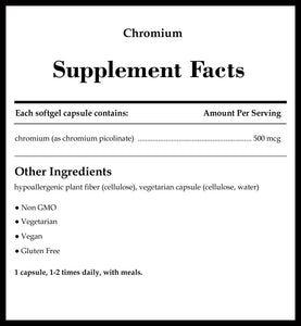 Pure Encapsulations Chromium 500 mcg