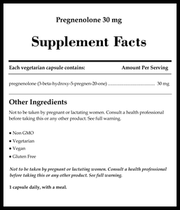 Pure Encapsulations Pregnenolone 30mg