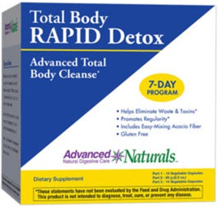 Advanced Naturals Total Body Rapid Detox Kit