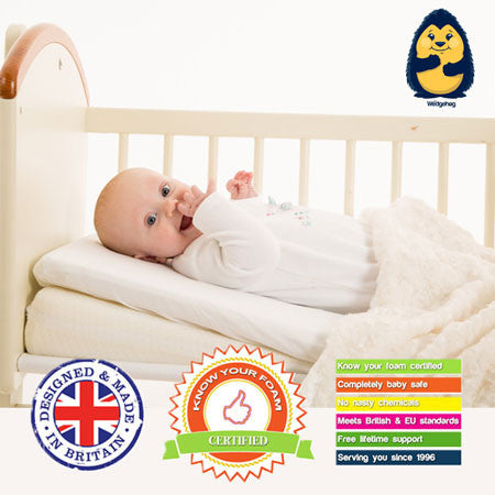 Wedgehog Reflux Wedge Crib 38cm - includes Reflux Support Membership