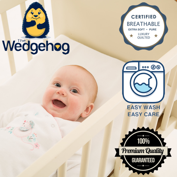 Luxury Bamboo Wedgehog® Deluxe - 38cm Crib Reflux Wedge - includes Free Bundled Reflux eBook