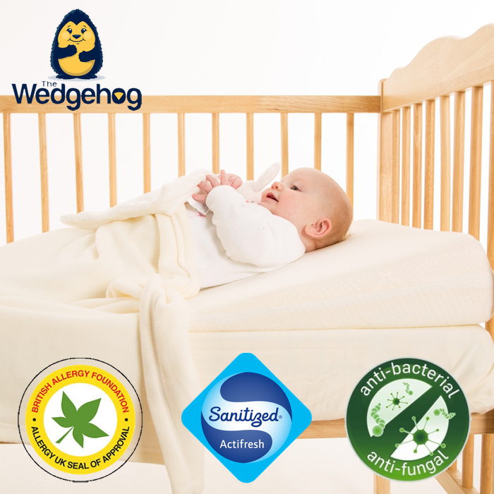 Luxury Silpure Wedgehog® Deluxe - 60cm Cot Reflux Wedge - includes Free Bundled Reflux eBook