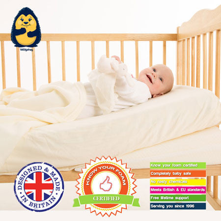 Wonky but Wonderful™ Wedgehog® Reflux Wedge  Cot bed 70cm - includes Free Bundled Reflux eBook