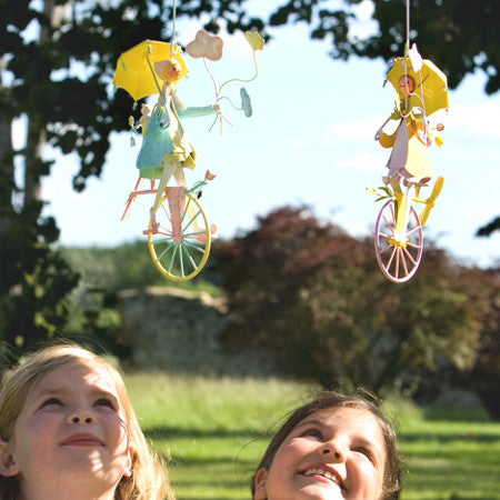 Fishing Boy Triplet Bicycle Mobiles - enchanting handmade!