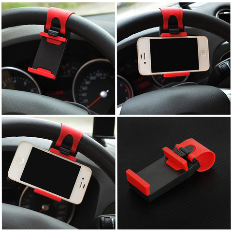 Universal Steering Wheel Clip Mount Phone Holder