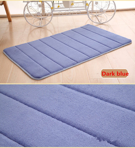 Water Absorbent Memory Foam Bath Mat