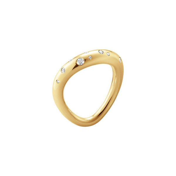 Georg Jensen - Offspring ring 18kt rødguld med brillanter-Georg Jensen-Guldsmed Lauridsen