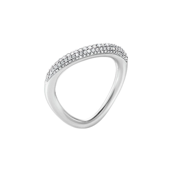 Georg Jensen - Offspring ring sølv med brillanter-Georg Jensen-Guldsmed Lauridsen