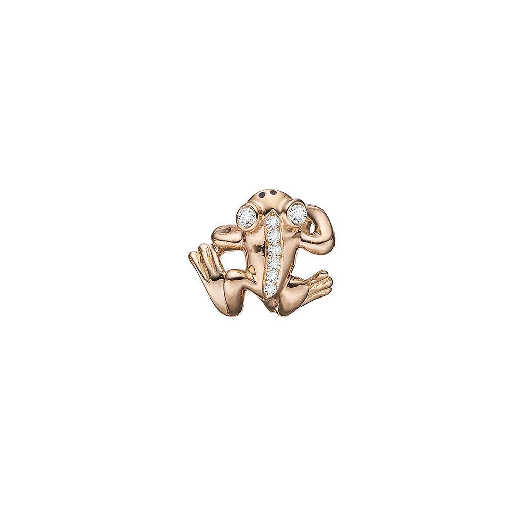 Guld charm - Diamond Frog-Christina Watches-Guldsmed Lauridsen