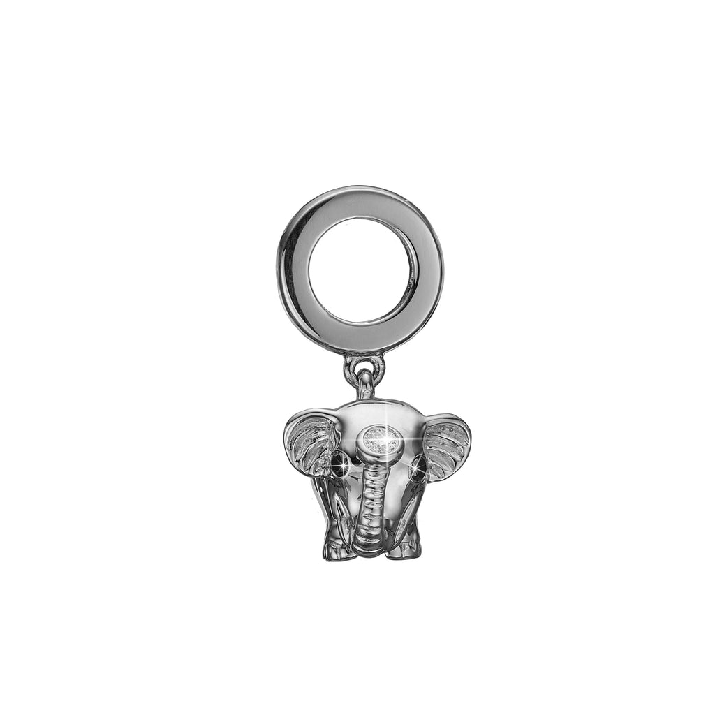 Hvidguld charm - Diamond Elephant-Christina Watches-Guldsmed Lauridsen