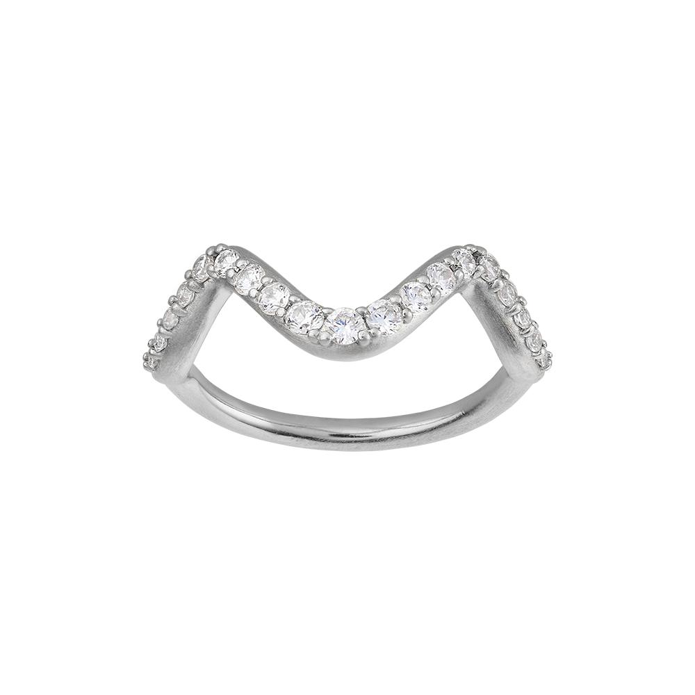 Wave Sparkle ring - small-byBiehl-Guldsmed Lauridsen