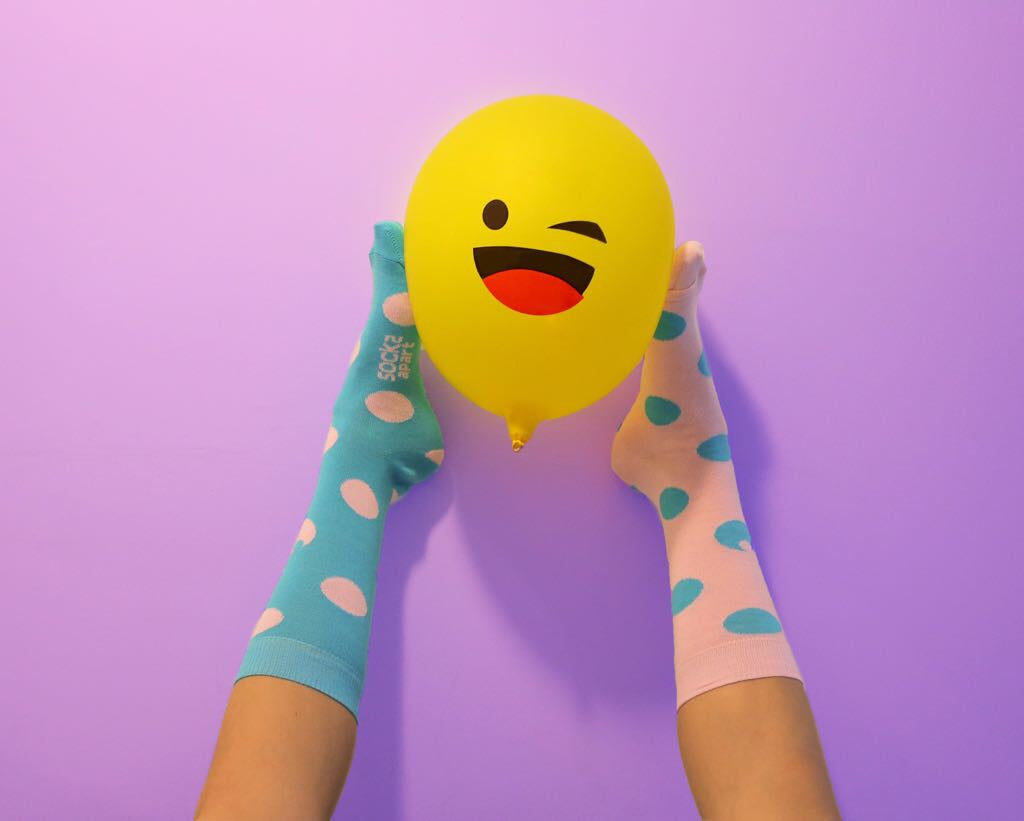 Colorful socks that's crazy funny and makes for a great birthday gift. Organic Cotton Socks. Odd Socks. Colorful Socks.