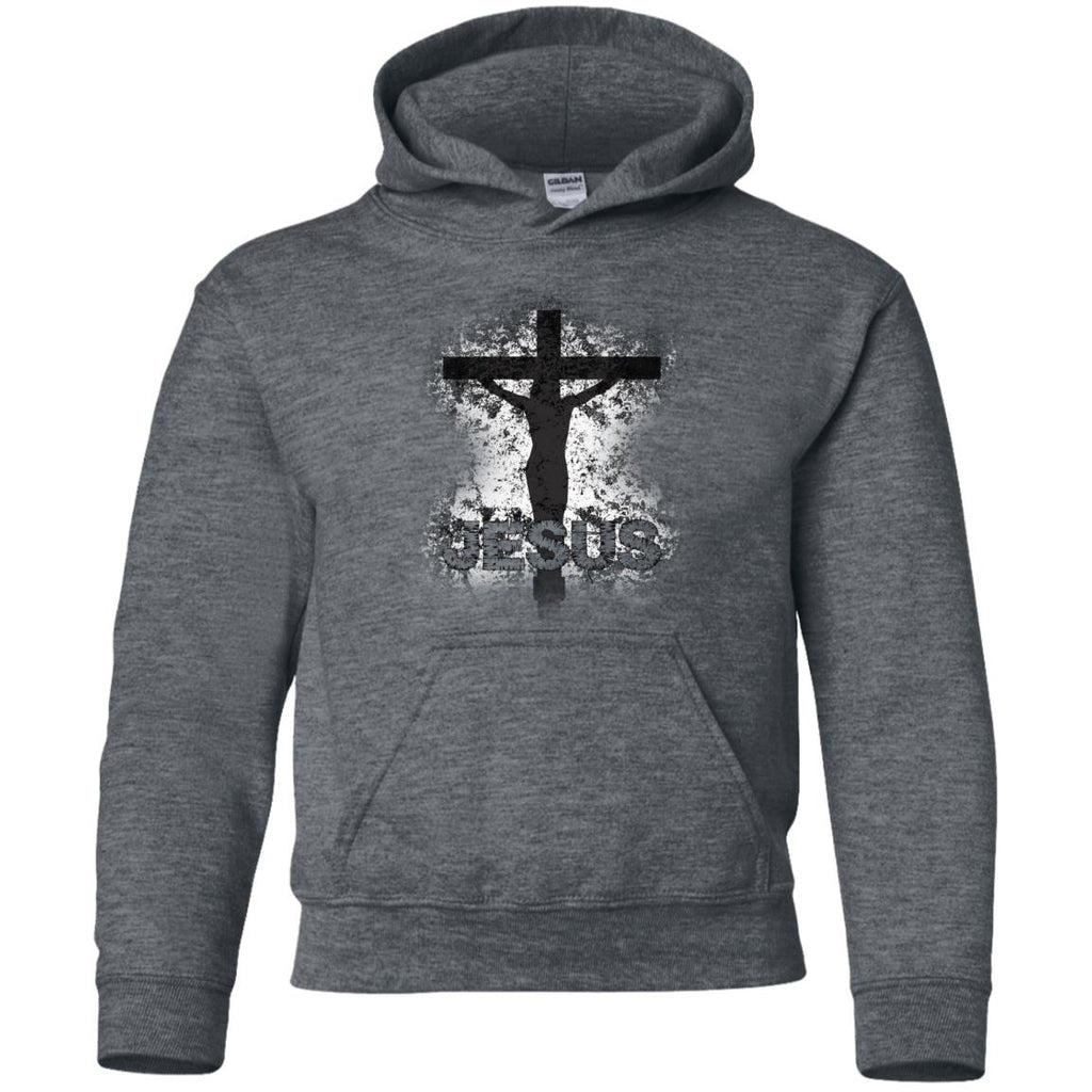 JESUS Crucified - Youth Pullover Hoodie