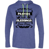 Prayers Up (Black) - Mens LS T-Shirt Hoodie