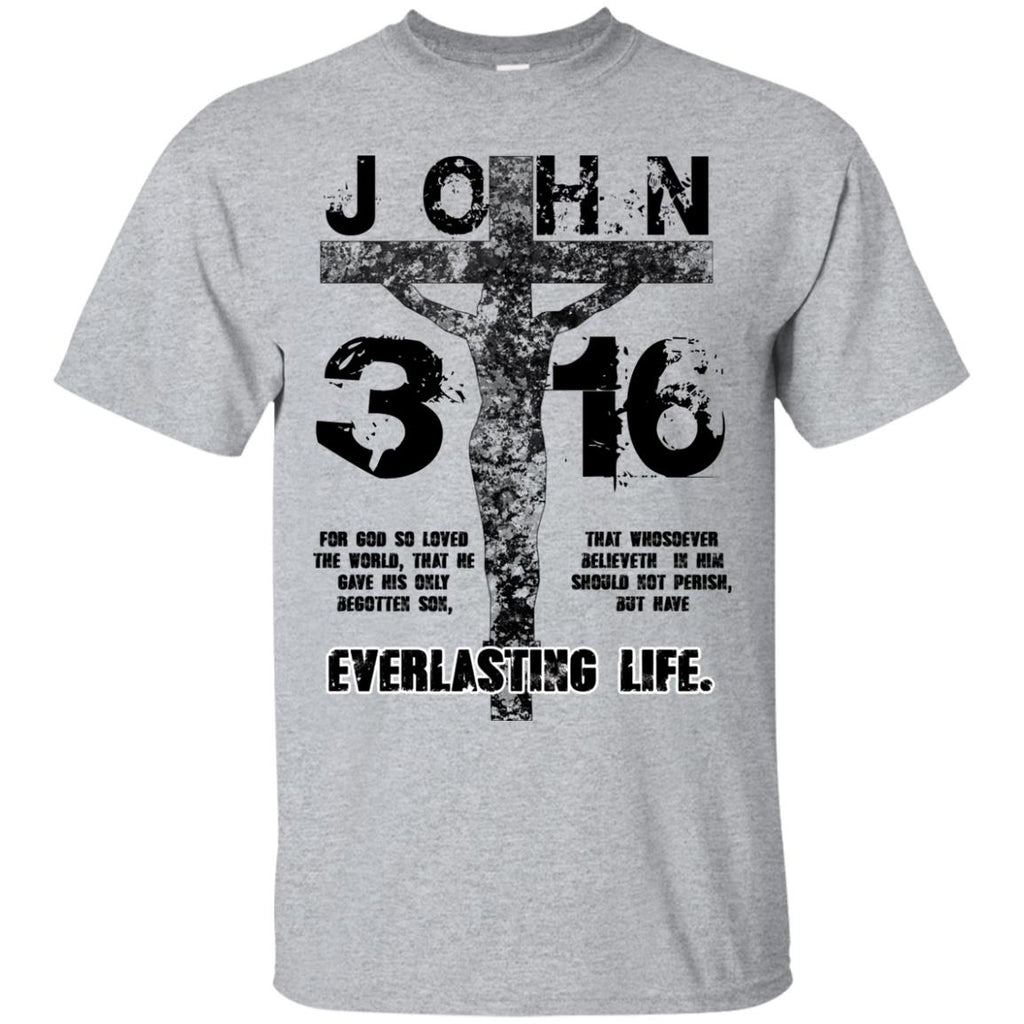 John 3:16 (Black) - Unisex Ultra Cotton T-Shirt
