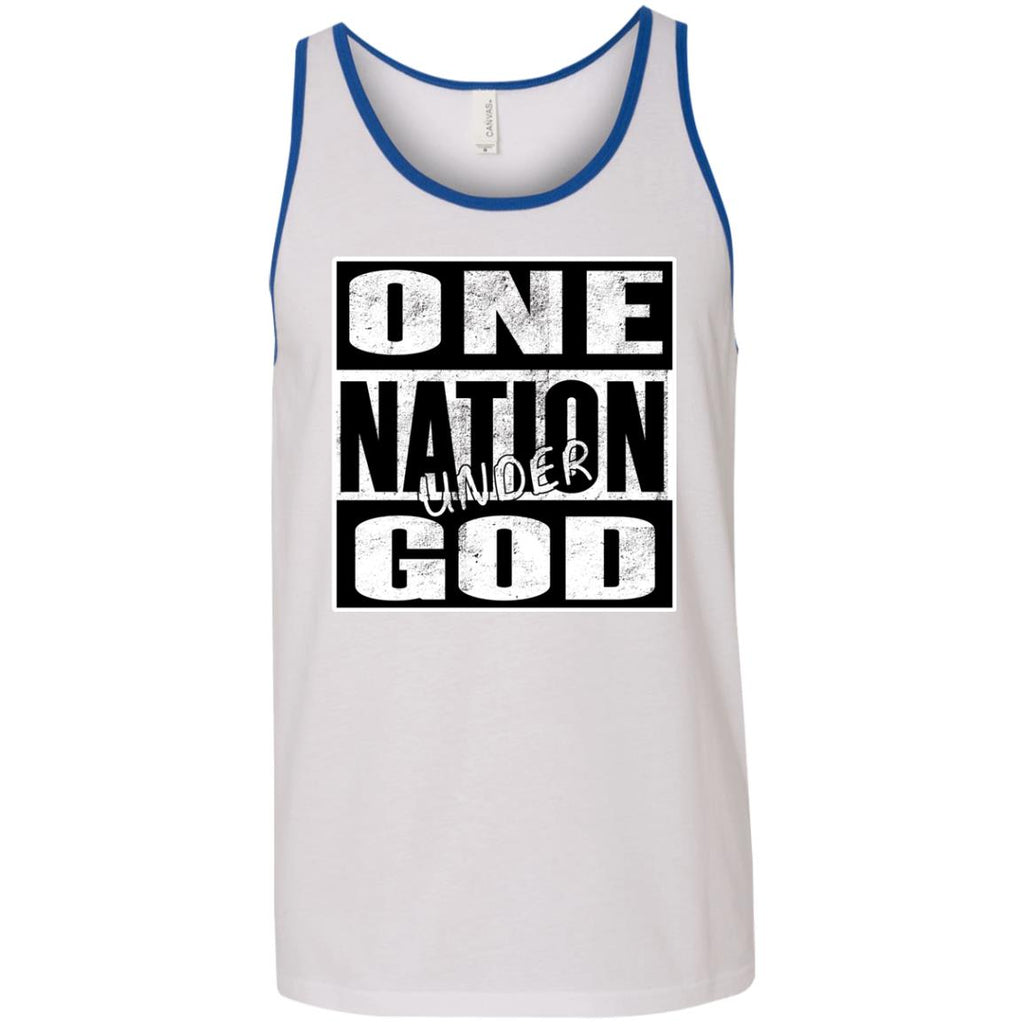 One Nation Under GOD - Ringer Unisex Tank