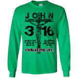 John 3:16 (Black) - Youth LS T-Shirt