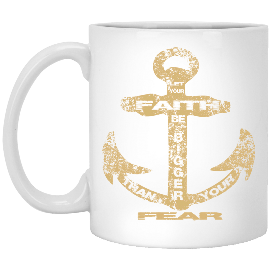 Faith Anchor - 11 oz. White Mug
