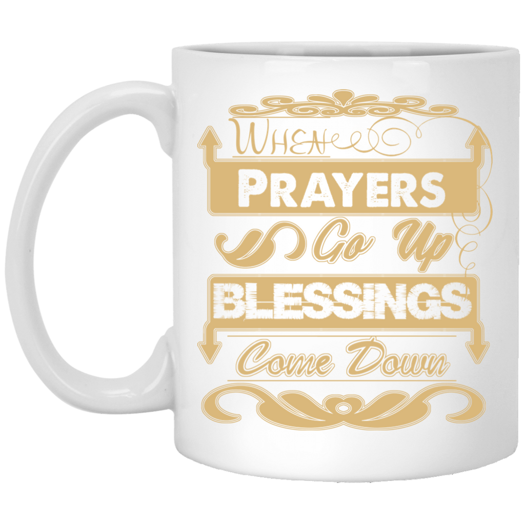 Prayers Up (Tan) - 11 oz. White Mug