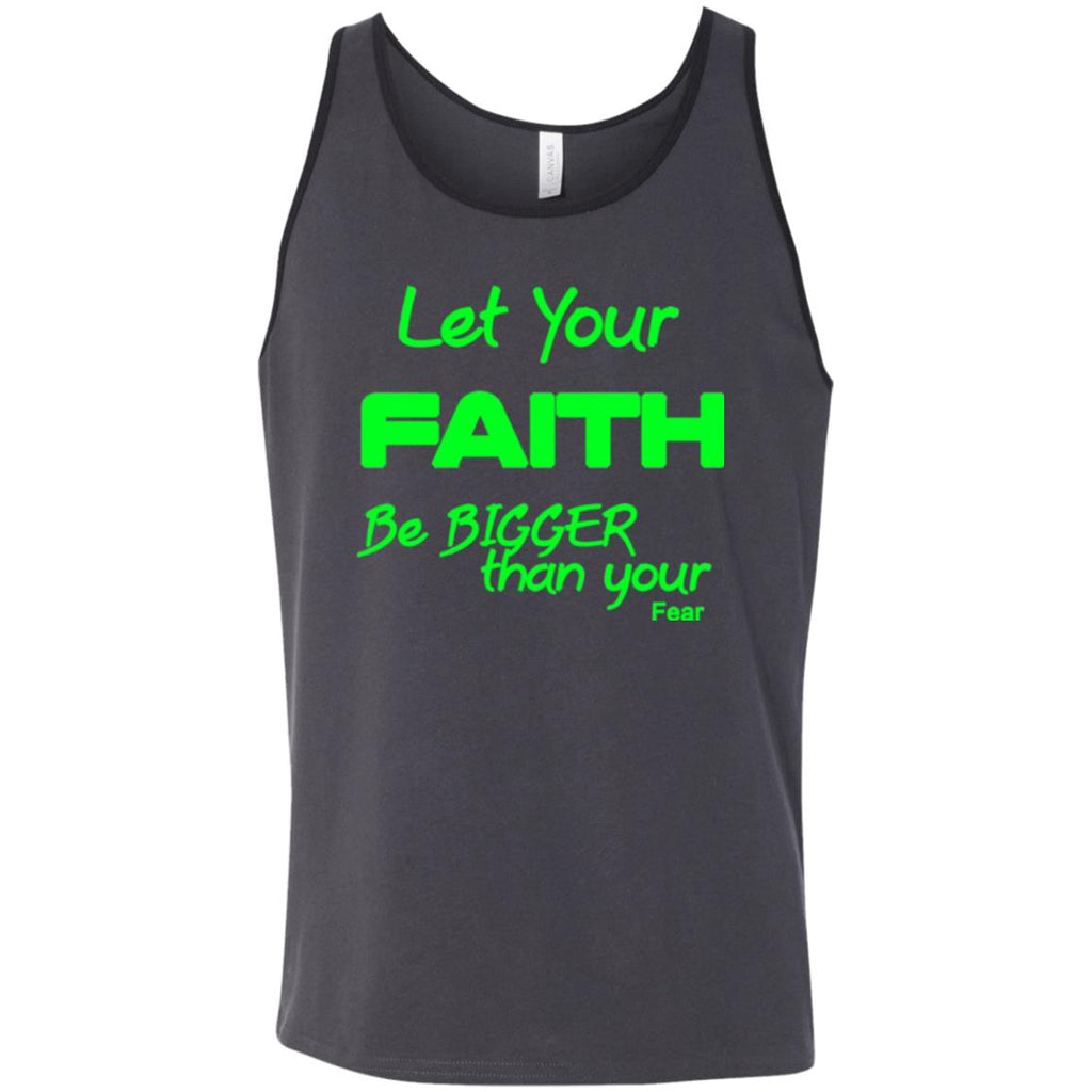 Faith Bigger Than Fear (Green) - Ringer Unisex Tank