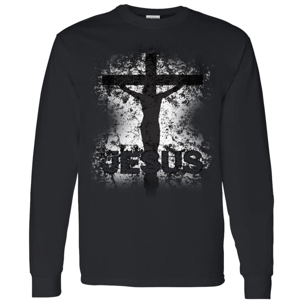 JESUS Crucified - Mens LS T-Shirt 5.3 oz.