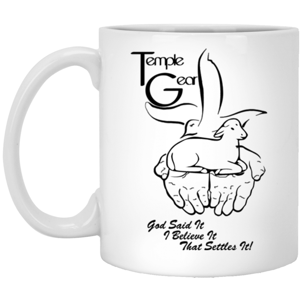God said it Black - 11 oz. White Mug