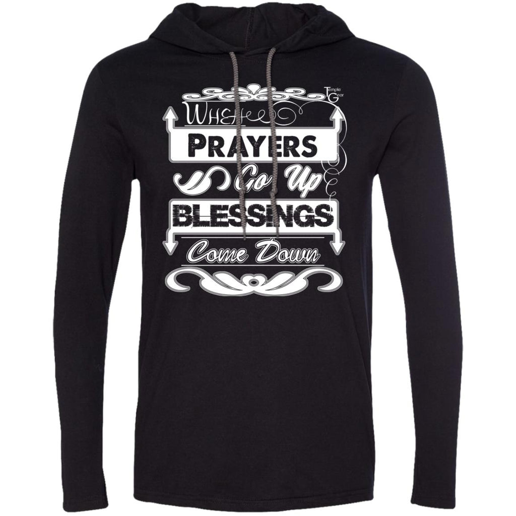 Prayers Up - Mens LS T-Shirt Hoodie