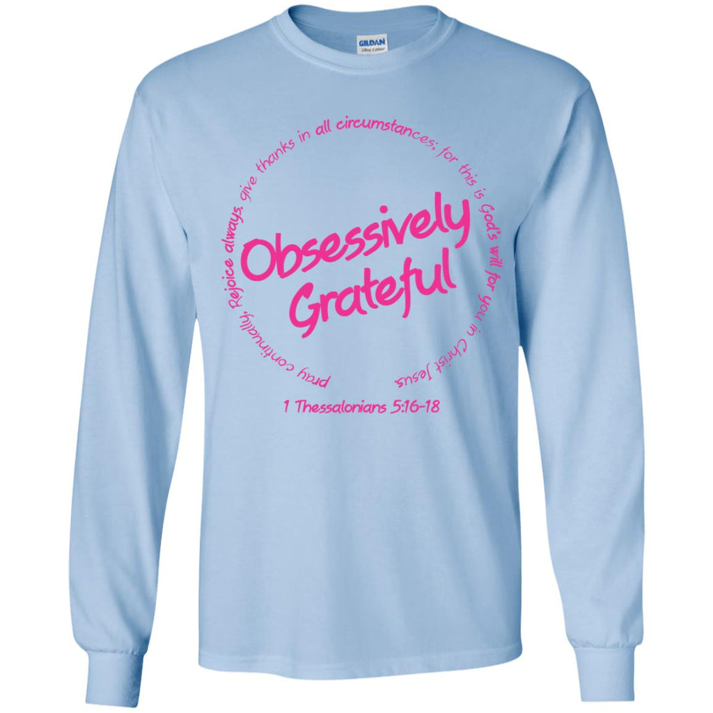 Grateful (Pink) - Youth LS T-Shirt