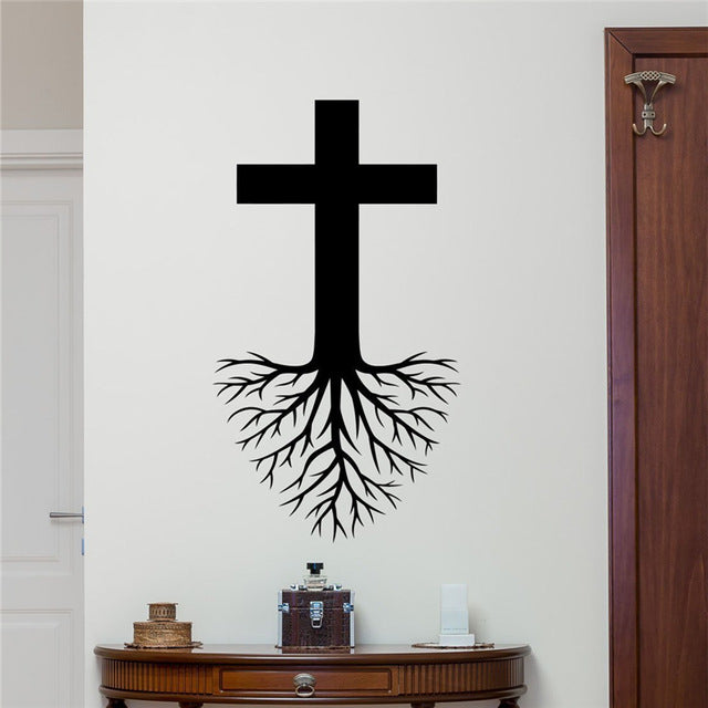 Cross Roots Wall Decal Vinyl