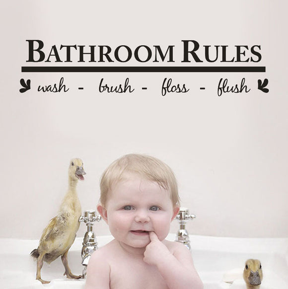 Bathroom Rules Wall Decals
