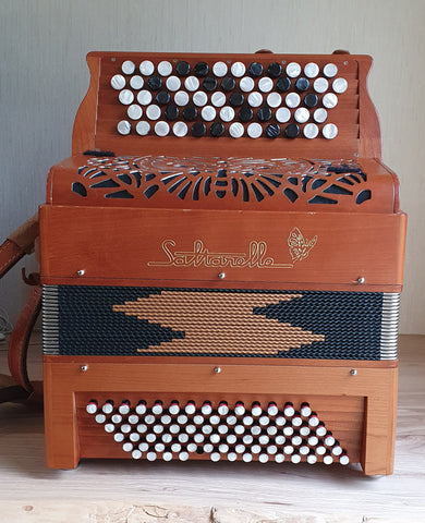 Saltarelle Bourroche Chromatic Button Accordion front view
