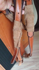 middle strap buckle leather covers
