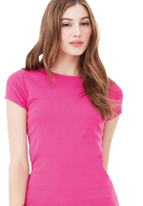 Pink women's fitted t-shirt