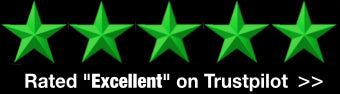 Trustpilot style stars showing 5 star rating