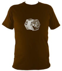 Concertina sketch t-shirt in chocolate brown