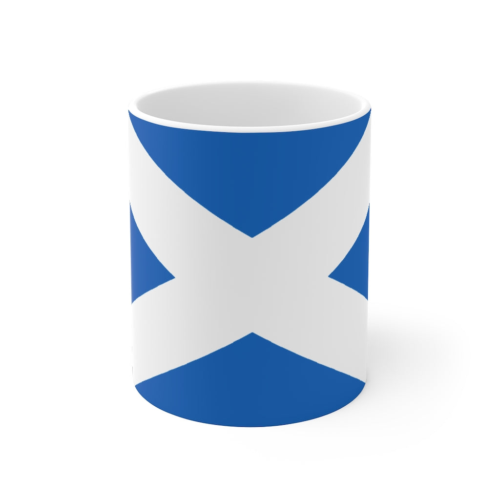 Scottish Flag Mug | Saltire / St Andrews Cross Flag Ceramic Mug | Scottish Gifts
