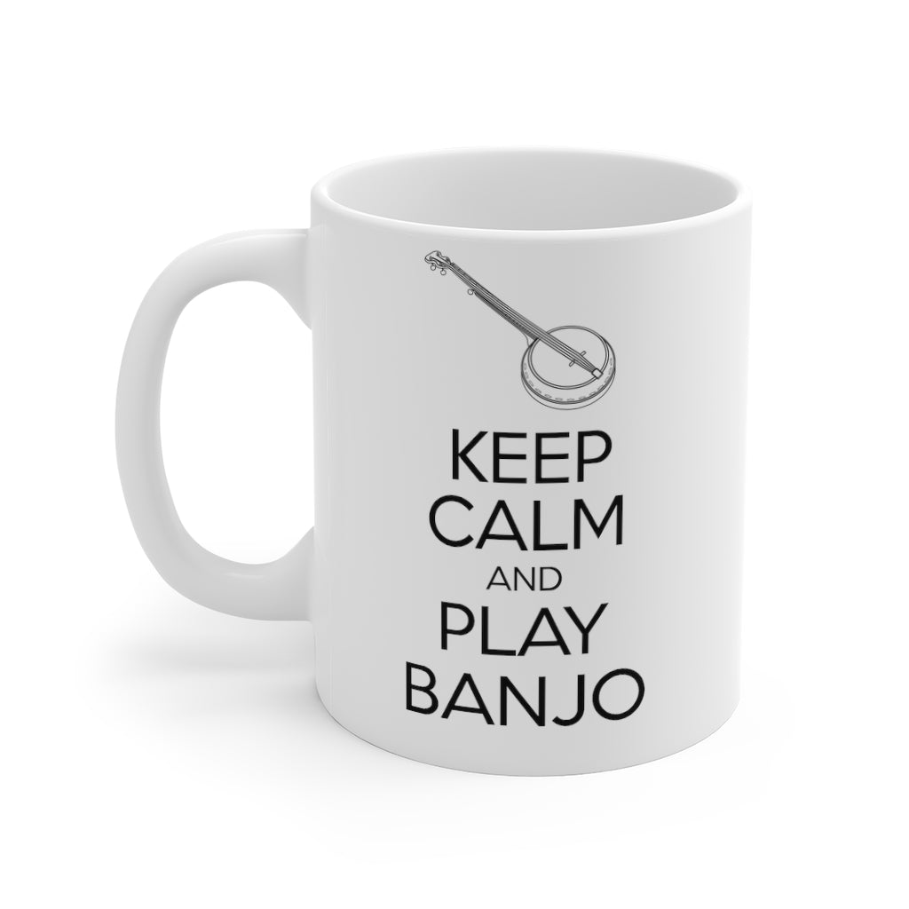 Keep Calm Banjo Mug | Keep Calm & Play Banjo Mug | Irish Music Mug