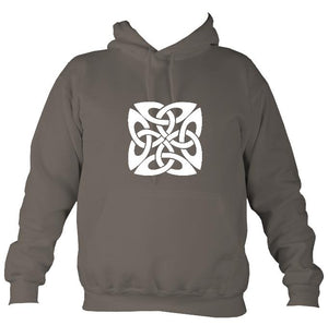 Celtic Square-ish Design Hoodie-Hoodie-Mocha brown-Mudchutney