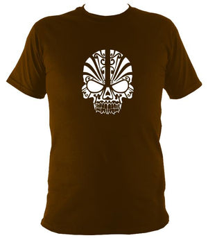 Tribal Skull T-shirt - T-shirt - Dark Chocolate - Mudchutney