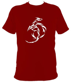 Tribal Dragon T-shirt - T-shirt - Cardinal Red - Mudchutney
