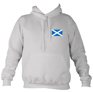Scottish Saltire Hoodie in Ash colour