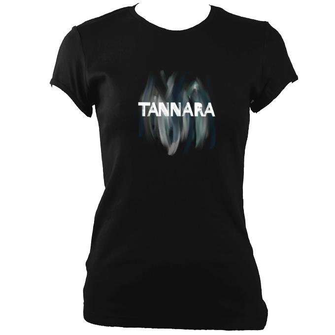 update alt-text with template Tannara Ladies Fitted T-shirt - T-shirt - Black - Mudchutney