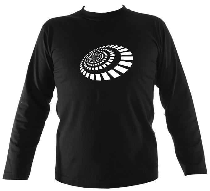 Spiral Blocks Mens Long Sleeve Shirt